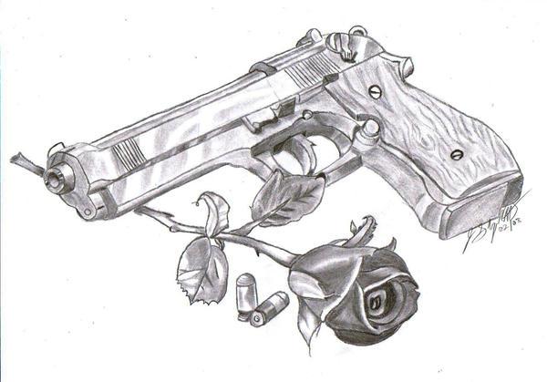 Gun and Rose by Comical-Jonny on DeviantArt