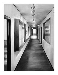 Gray Hallway by ANGlove