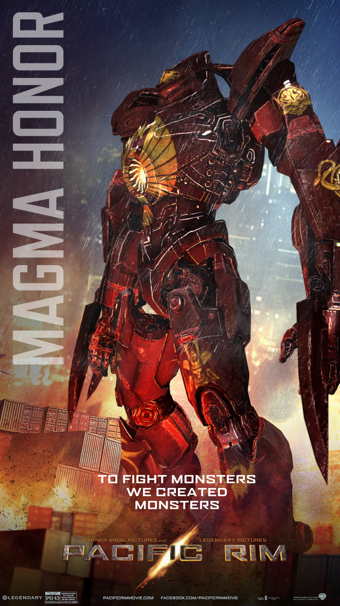 Pacific Rim: Fire Nation Magma Honor Jaeger Poster by ... Pacific Rim Jaeger Posters