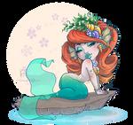 Chibi mermaid - speed drawing on Youtube by ElenaFerroli