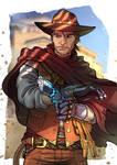 Commission - SciFi Cowboy