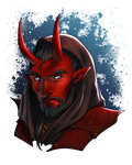 Red Demon - Commission by ElenaFerroli
