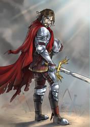 Knight of Illmater - Commission by ElenaFerroli