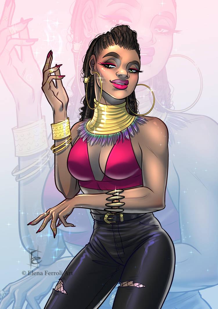African Magic Girl - Commission by ElenaFerroli