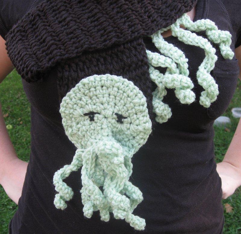 Crocheted Cthulhu Scarf By Humphreyshandmade On Deviantart