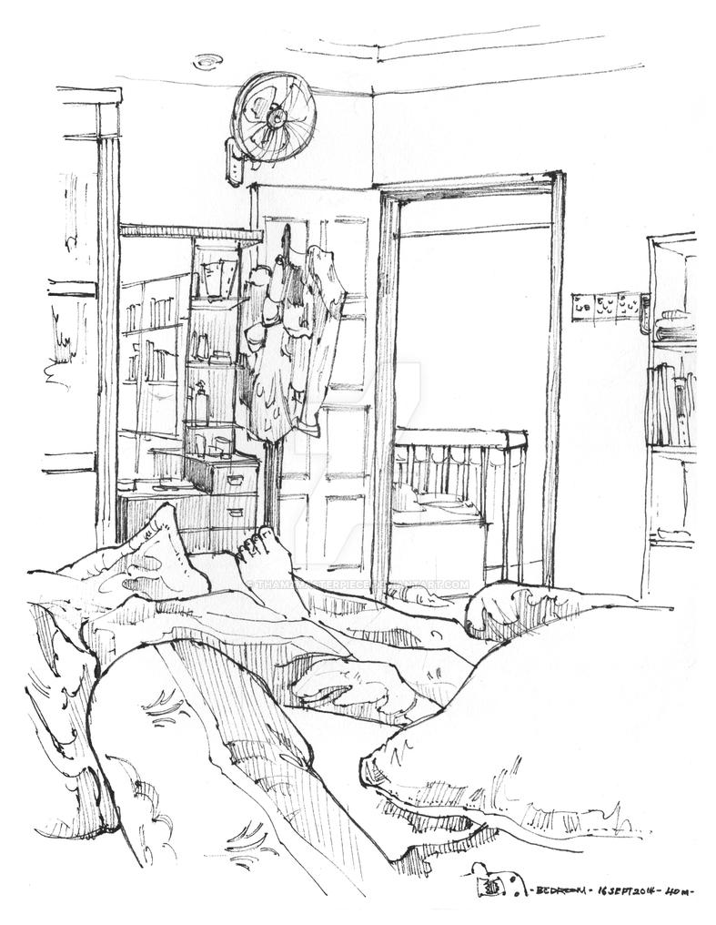 Life Sketching_Bedroom by thamzmasterpiece