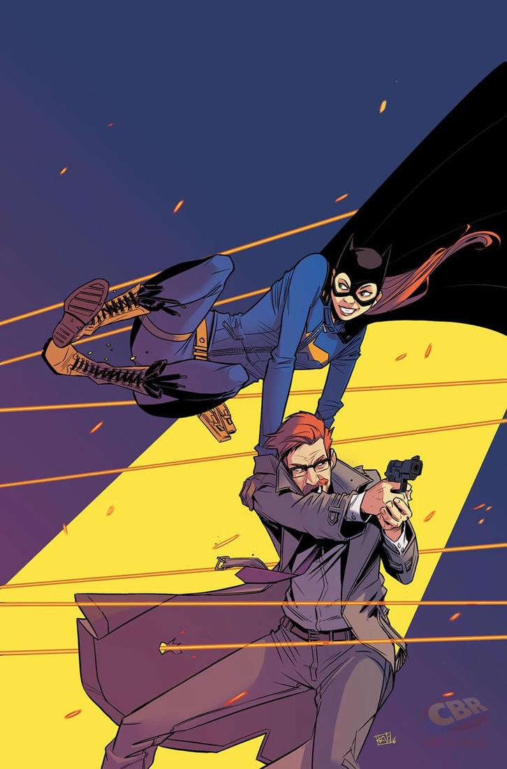 Batgirl and Gordon by Chris Wildgoose by lovegrudb