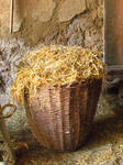 Basket full straw