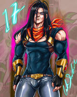 Super Android 17 by ShadowMaster23
