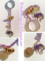 Eevee/Espeon Evolution charms Keychain by RelentlessRepeat