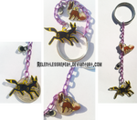 Eevee/Umbreon Evolution charms Keychain