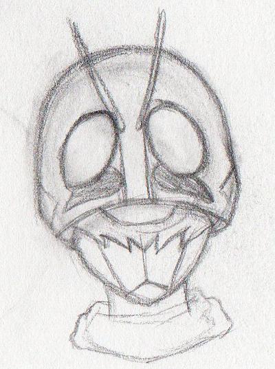 Monthly Doodles #1 - Sketch: Kamen Rider Ichigo by RussellStar