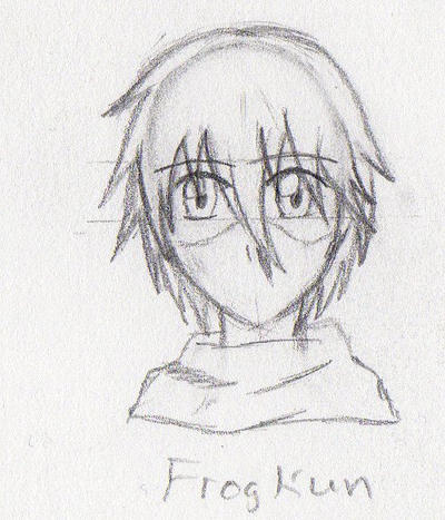 Monthly Doodles #1 - Sketch: Frog-kun by RussellStar