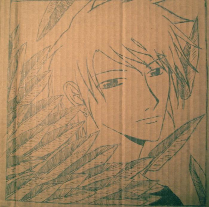 Cardboard Drawing by suki-megane