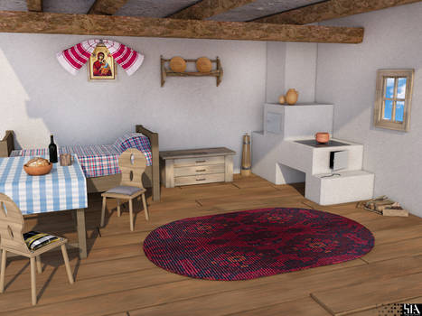 Romanian Traditional House Interior