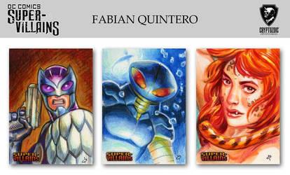 DC COMICS SUPER VILLAINS sketch cards ! by FabianQuintero