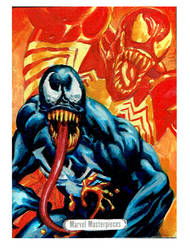 Venom Sketch card Joe Jusko tribute