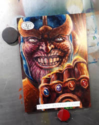 Thanos Sketch Card Marvel Thor Ragnarok AP