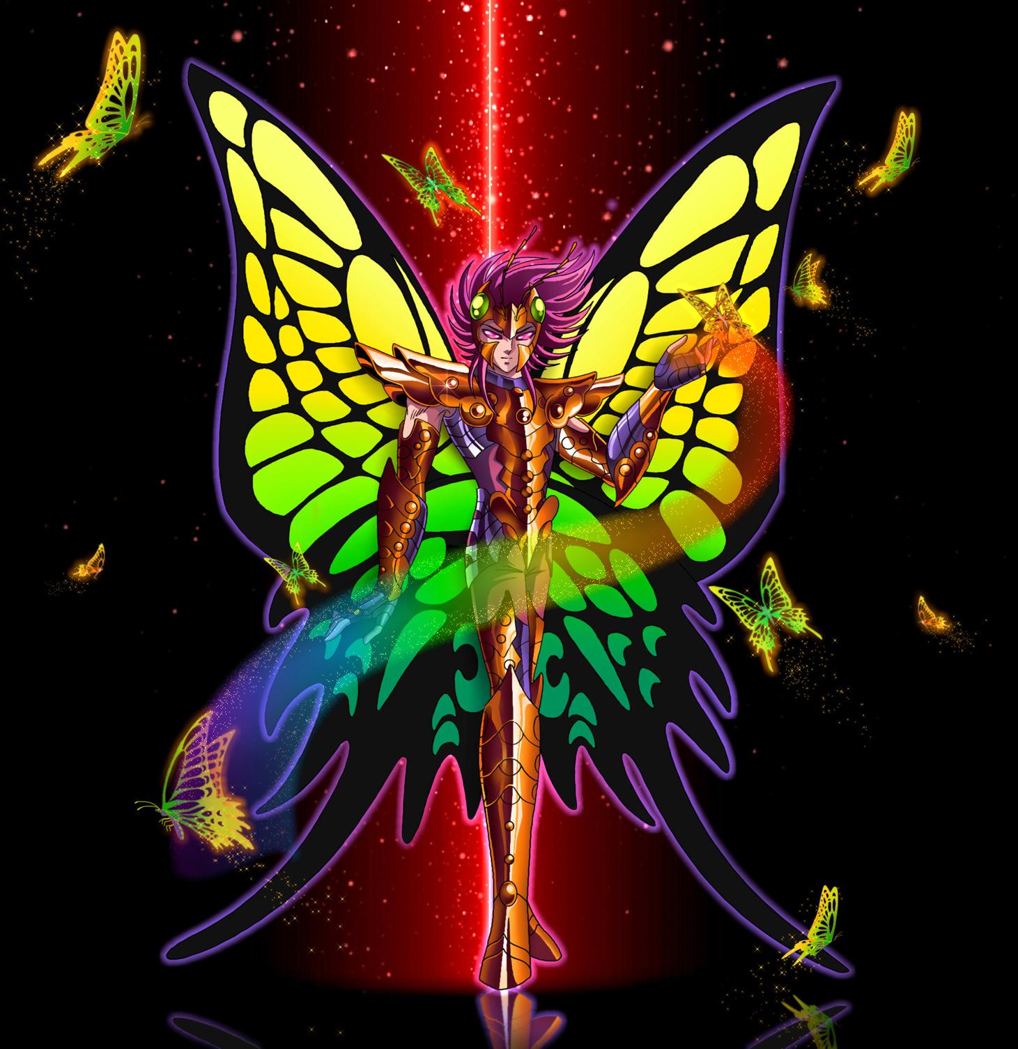 saint seiya hades papillon myu by juni anker - Image De Papillon
