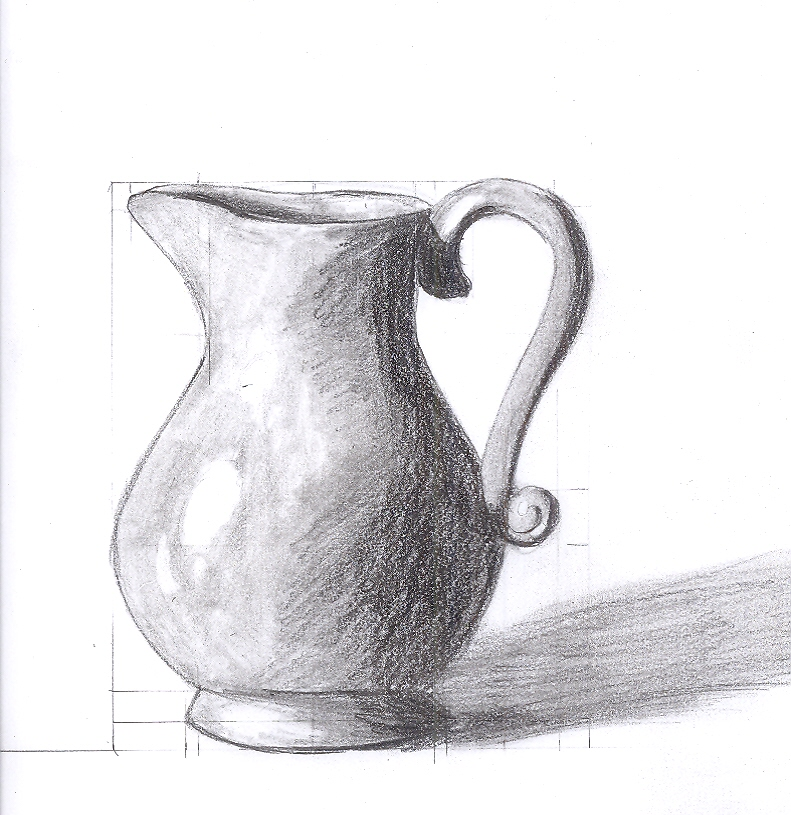 Scribble Drawing Still Life : Vase study by saronicle on deviantart