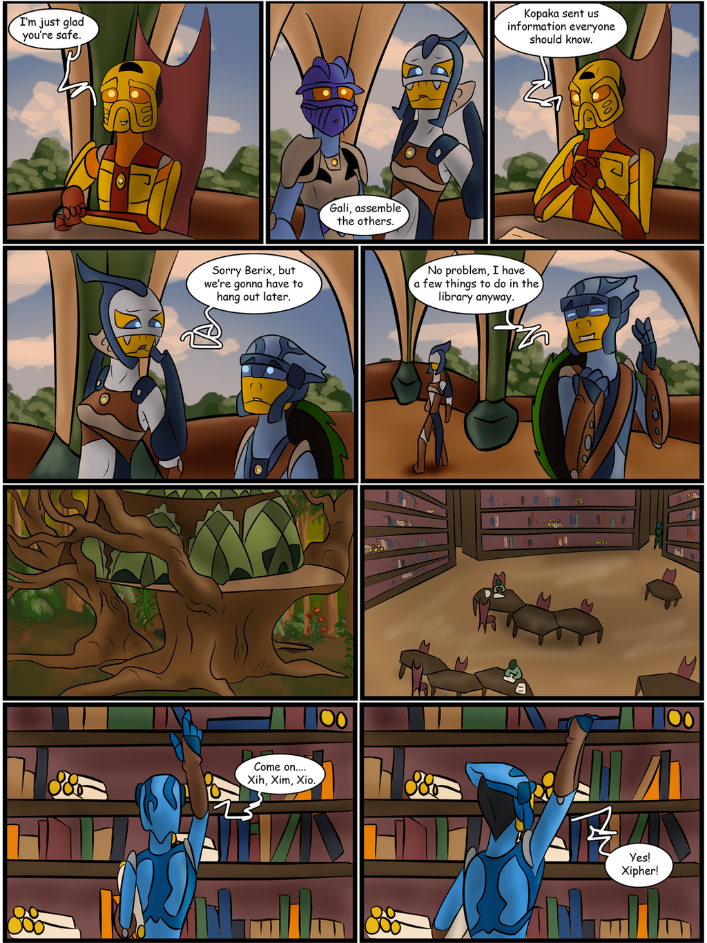 Hunters and Hunted Ch 5 Pg 3 by Saronicle