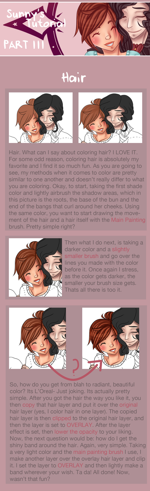 Drawing Tutorial [Part III: HAIR] by TheHumanHeart