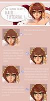 Anime Hair Tutorial by TheHumanHeart