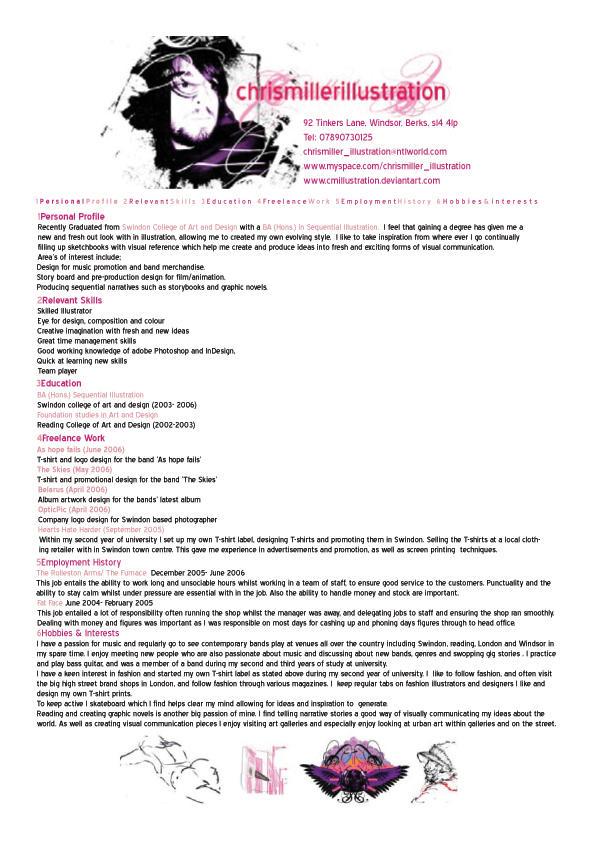 New CV by Dendrilite on DeviantArt