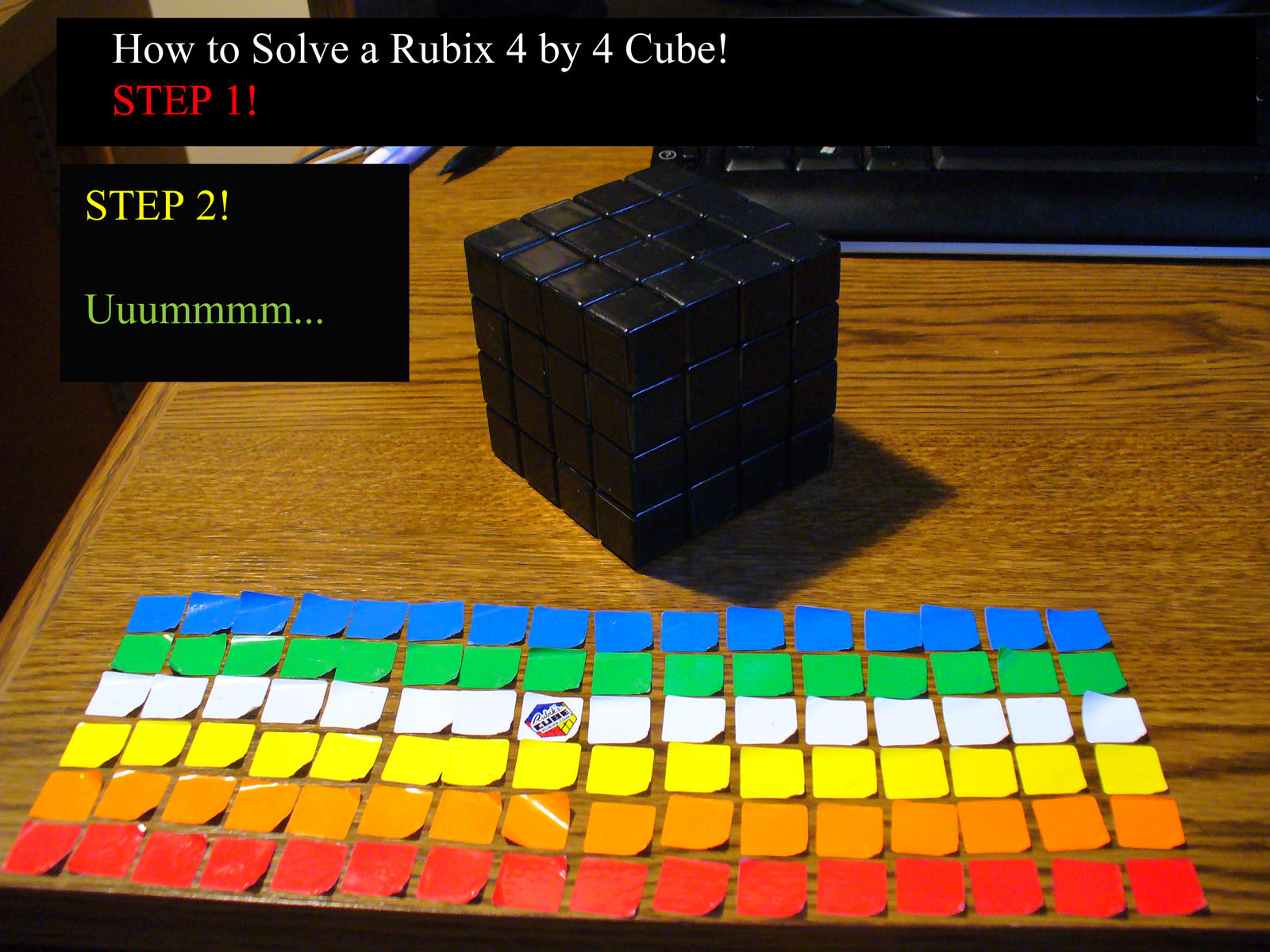 How To Solve A 4x4 Rubix Cube By Rasvashed