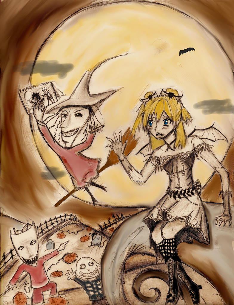 Namine's Halloweentown Trouble by Checker-Bee