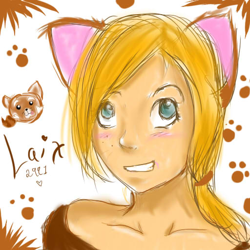 I look like a red panda :P by Checker-Bee