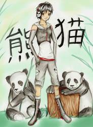 Hotaru and the Pandas by Checker-Bee