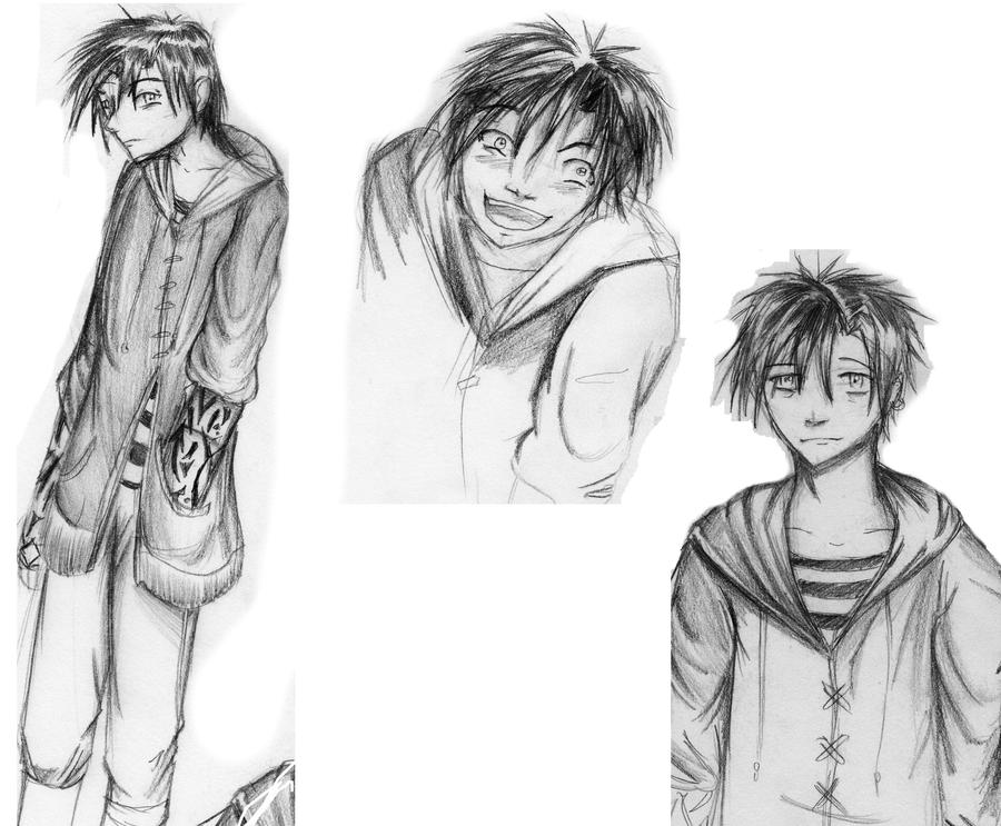 Newton Zeals Sketches by Checker-Bee