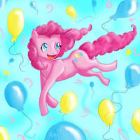 Pinkie Pie Party! by Checker-Bee
