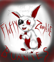 Fluffy Zombie Bunny!!! by Checker-Bee