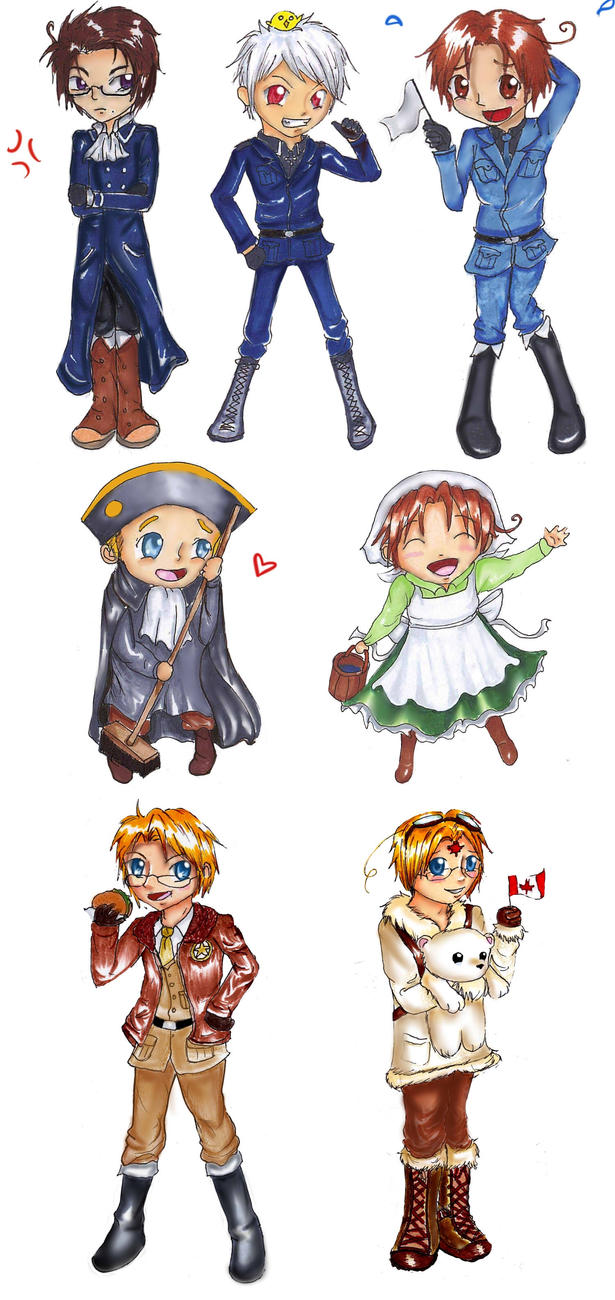 Hetalia Chibi Collection by Checker-Bee
