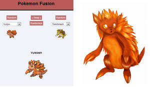 Pokemon Fusion: Vulslash by Checker-Bee