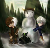 Lil Hiccup's Imaginary Friend by Checker-Bee
