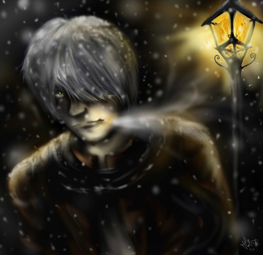 Mushishi: light snow by Checker-Bee