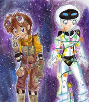 Wall E and Eve by Checker-Bee