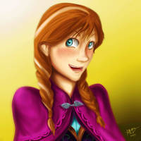 Princess Anna of Arendelle by Checker-Bee