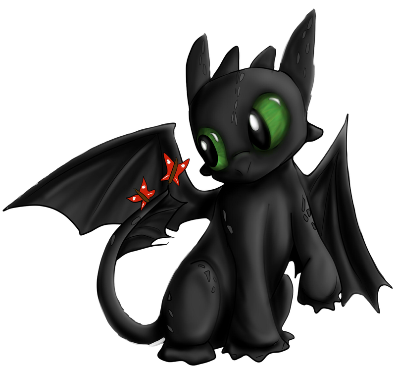 lil Toothless by Checker-Bee