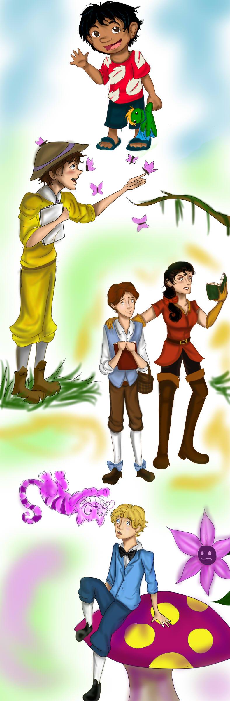 Disney Gender-Bender sketch dump by Checker-Bee