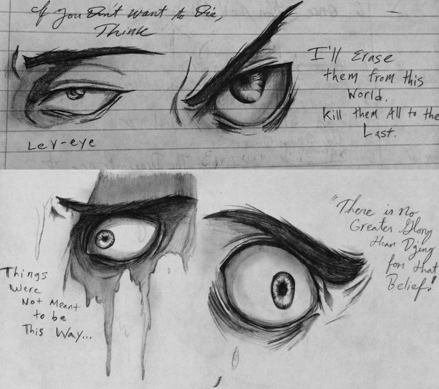 Shingek-eye no Kyojin eye sketches by Checker-Bee