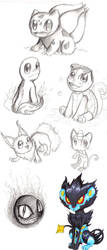 Gen 1 Pokemon sketch dump