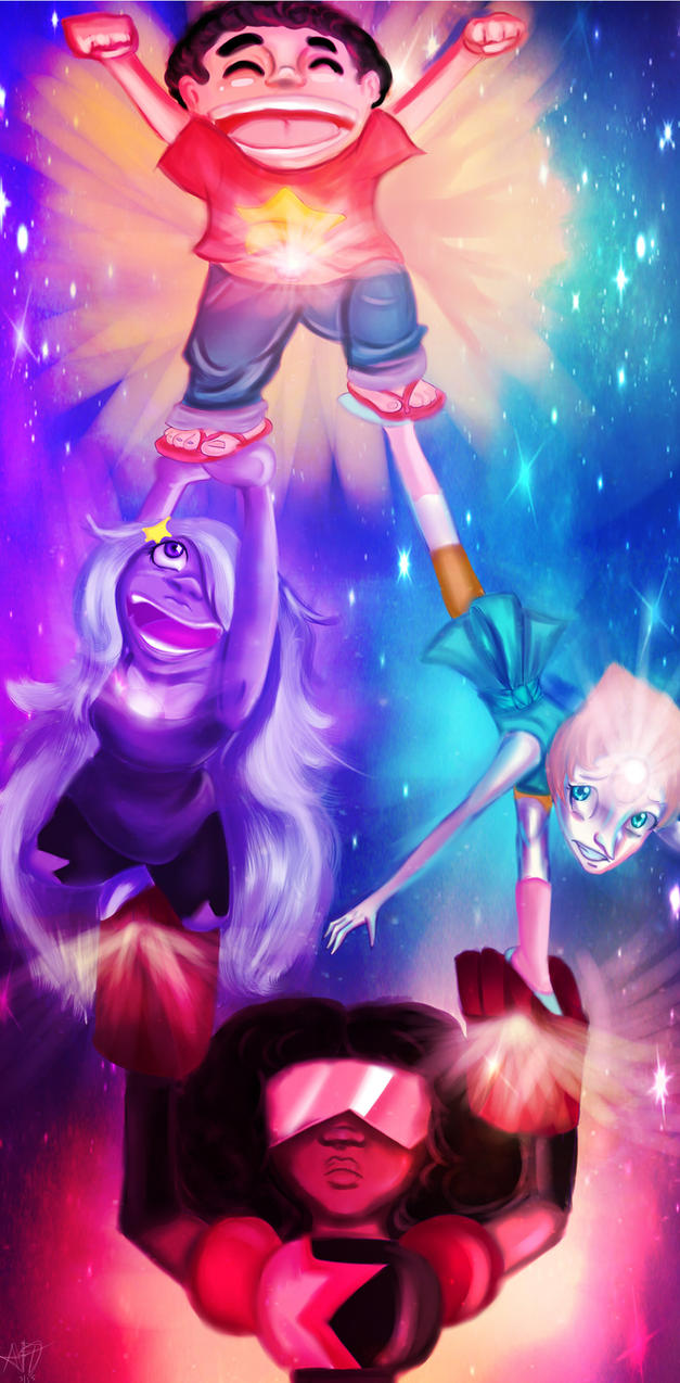 We are the Crystal Gems by Checker-Bee