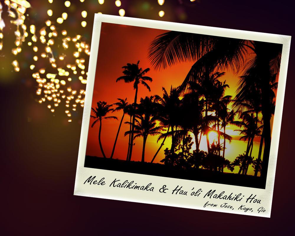 hawaiian christmas wallpaper