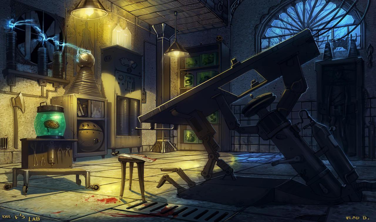 Frankenstein's Lab by saltytowel