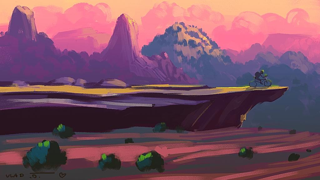 Sunset Biking by saltytowel