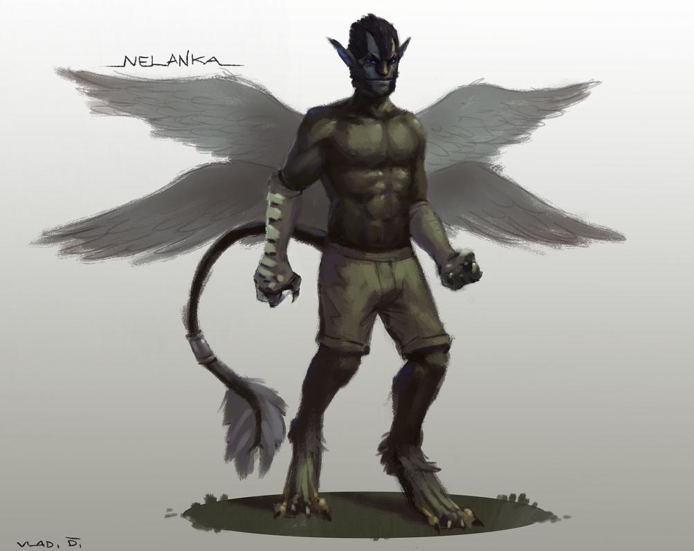Character Commission - Nelanka, for SmirkCat by saltytowel